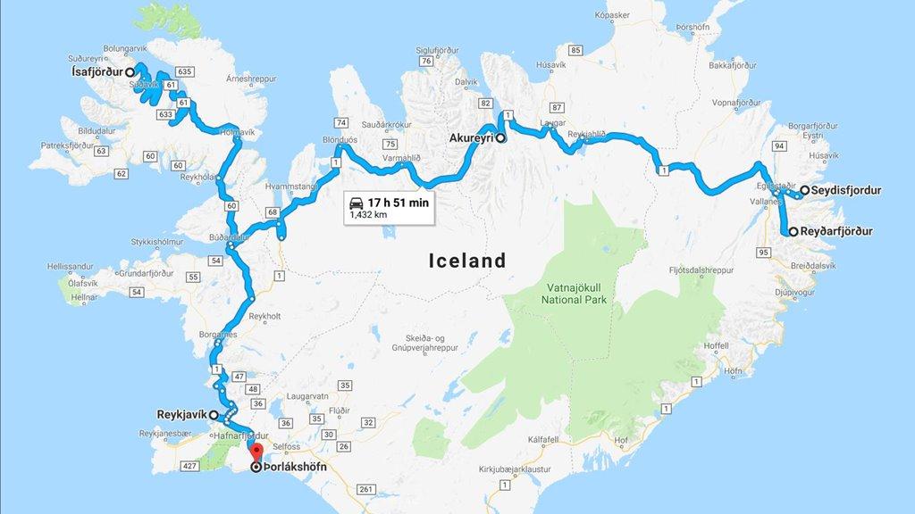 Ferðandi vinnuframsýning í Íslandi