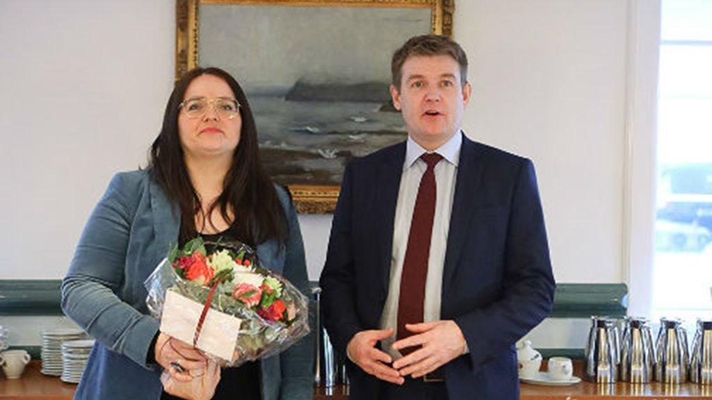 Móttøka fyri Honnu Jensen, landsstýriskvinnu