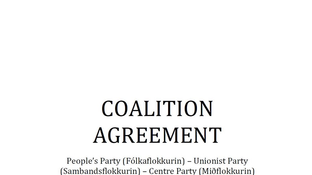 The Faroese Coalition Agreement in Danish and English