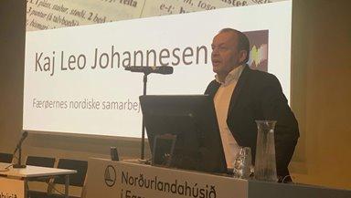 """Evnisráðstevnan hjá Útnorðurráðnum """"Mál í Útnorði""""  varð sett av Kaj Leo Holm Johannesen"""