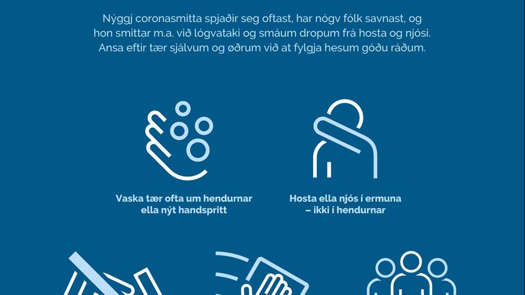 92 føroyingar fingið staðfest smittuna
