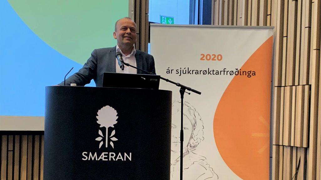 Kaj Leo Holm Johannesen, landsstýrismaður luttók á altjóða sjúkrarøktarfrøðingardegnum