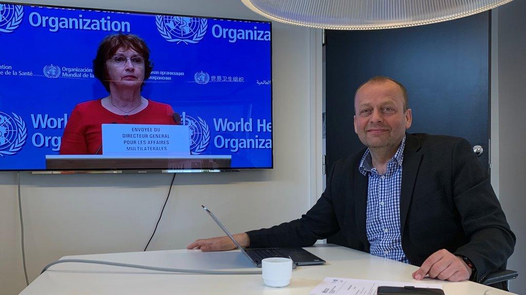 Kaj Leo Holm Johannesen á ársfundi í WHO