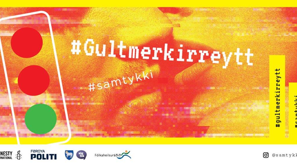 #Samtykki - Gult merkir reytt