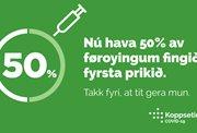 50% koppsett – hálvur teinur rógvin