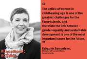 Eyðgunn Samuelsen, Minister of Gender Equality takes part at The UN Commission on the Status of Women (CSW) in New York